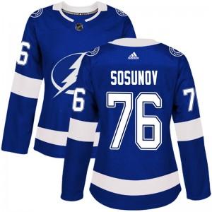 Oleg Sosunov Tampa Bay Lightning Women's Adidas Authentic Blue Home Jersey