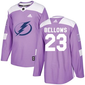 Brian Bellows Tampa Bay Lightning Youth Adidas Authentic Purple Fights Cancer Practice Jersey