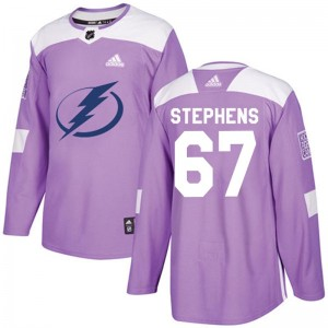 Mitchell Stephens Tampa Bay Lightning Youth Adidas Authentic Purple Fights Cancer Practice Jersey
