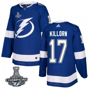 Alex Killorn Tampa Bay Lightning Men's Adidas Authentic Blue Home 2020 Stanley Cup Champions Jersey