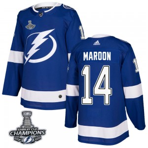 Pat Maroon Tampa Bay Lightning Men's Adidas Authentic Blue Home 2020 Stanley Cup Champions Jersey