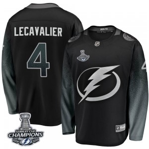Vincent Lecavalier Tampa Bay Lightning Men's Fanatics Branded Black Breakaway Alternate 2020 Stanley Cup Champions Jersey