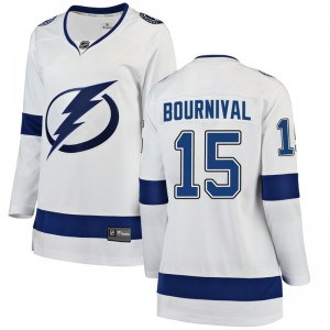 Michael Bournival Tampa Bay Lightning Women's Fanatics Branded White Breakaway Away Jersey