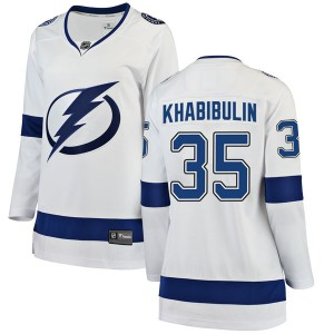 Nikolai Khabibulin Tampa Bay Lightning Women's Fanatics Branded White Breakaway Away Jersey