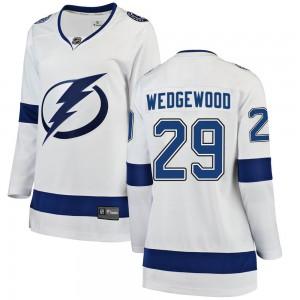 Scott Wedgewood Tampa Bay Lightning Women's Fanatics Branded White ized Breakaway Away Jersey