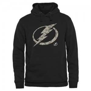 Tampa Bay Lightning Men's Black Rink Warrior Pullover Hoodie