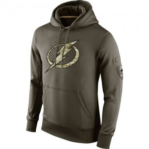 Tampa Bay Lightning Men's Nike Olive Salute To Service KO Performance Hoodie