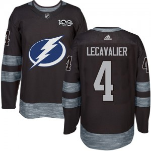 Vincent Lecavalier Tampa Bay Lightning Men's Adidas Authentic Black 1917-2017 100th Anniversary Jersey