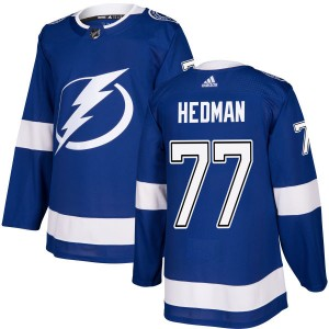 Victor Hedman Tampa Bay Lightning Men's Adidas Authentic Blue Jersey