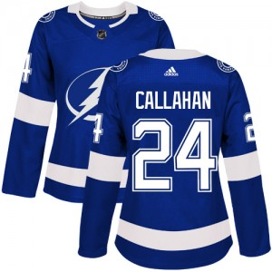 Ryan Callahan Tampa Bay Lightning Women's Adidas Authentic Royal Blue Home Jersey