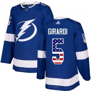 Dan Girardi Tampa Bay Lightning Men's Adidas Authentic Blue USA Flag Fashion Jersey