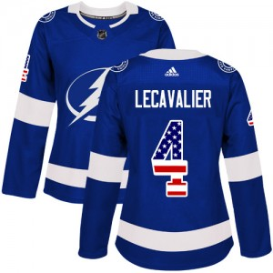 Vincent Lecavalier Tampa Bay Lightning Women's Adidas Authentic Blue USA Flag Fashion Jersey
