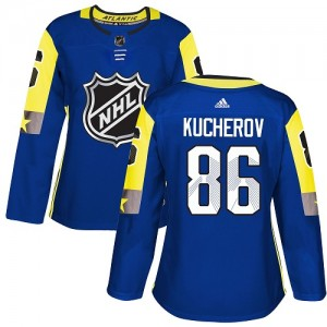 Nikita Kucherov Tampa Bay Lightning Women's Adidas Authentic Royal Blue 2018 All-Star Atlantic Division Jersey