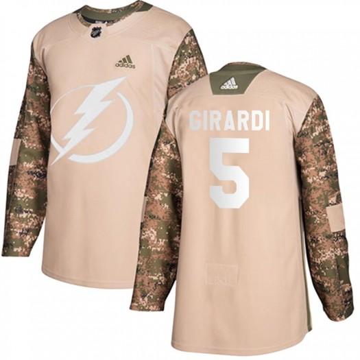 Dan Girardi Tampa Bay Lightning Men's Adidas Authentic Camo Veterans Day Practice Jersey