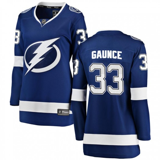 Cameron Gaunce Tampa Bay Lightning Women's Fanatics Branded Blue Breakaway Home Jersey
