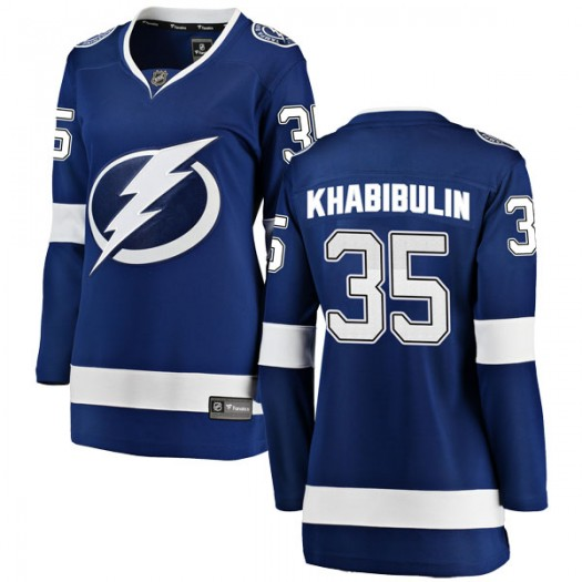Nikolai Khabibulin Tampa Bay Lightning Women's Fanatics Branded Blue Breakaway Home Jersey