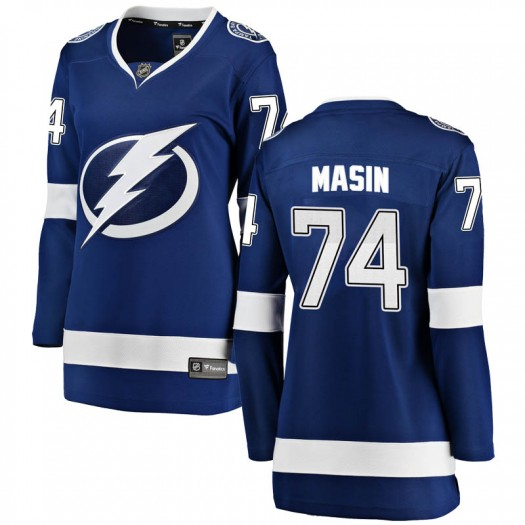 Dominik Masin Tampa Bay Lightning Women's Fanatics Branded Blue Breakaway Home Jersey