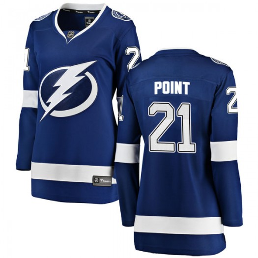 Brayden Point Tampa Bay Lightning Women's Fanatics Branded Blue Breakaway Home Jersey