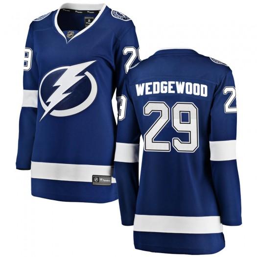 Scott Wedgewood Tampa Bay Lightning Women's Fanatics Branded Blue ized Breakaway Home Jersey