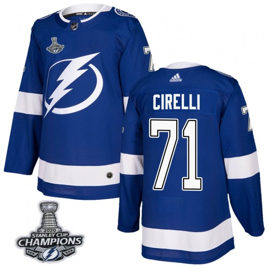 Anthony Cirelli Tampa Bay Lightning Youth Adidas Authentic Blue Home 2020 Stanley Cup Champions Jersey