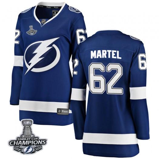 Danick Martel Tampa Bay Lightning Women's Fanatics Branded Blue Breakaway Home 2020 Stanley Cup Champions Jersey
