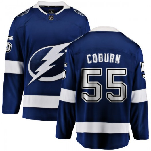 Braydon Coburn Tampa Bay Lightning Men's Fanatics Branded Blue Home Breakaway Jersey