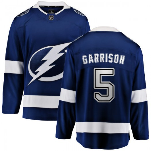 Jason Garrison Tampa Bay Lightning Men's Fanatics Branded Blue Home Breakaway Jersey