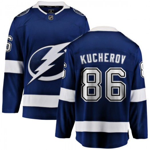 Nikita Kucherov Tampa Bay Lightning Youth Fanatics Branded Blue Home Breakaway Jersey