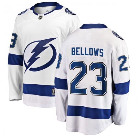 Brian Bellows Tampa Bay Lightning Men's Fanatics Branded White Breakaway Away Jersey