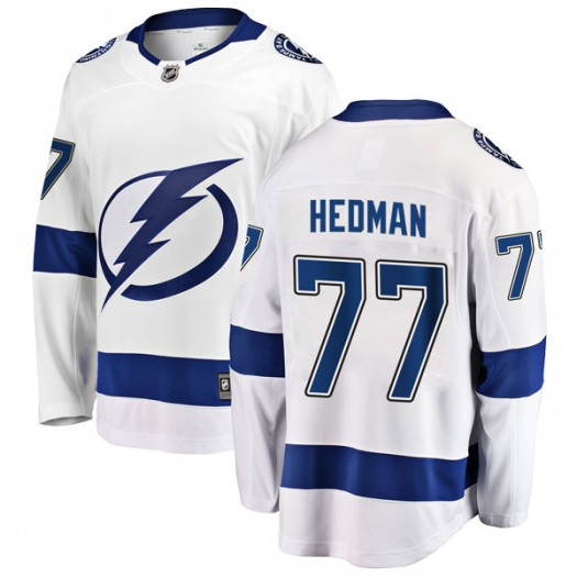 Victor Hedman Tampa Bay Lightning Men's Fanatics Branded White Breakaway Away Jersey