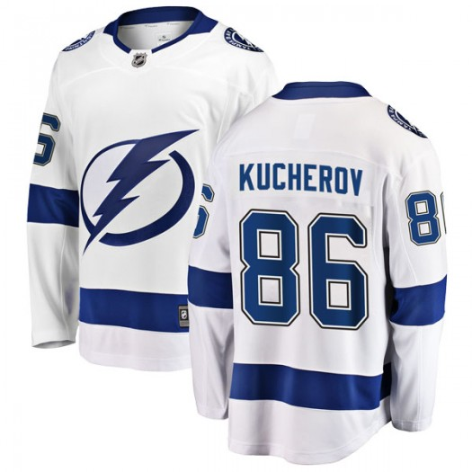Nikita Kucherov Tampa Bay Lightning Men's Fanatics Branded White Breakaway Away Jersey