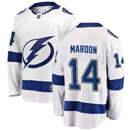 Patrick Maroon Tampa Bay Lightning Men's Fanatics Branded White Breakaway Away Jersey