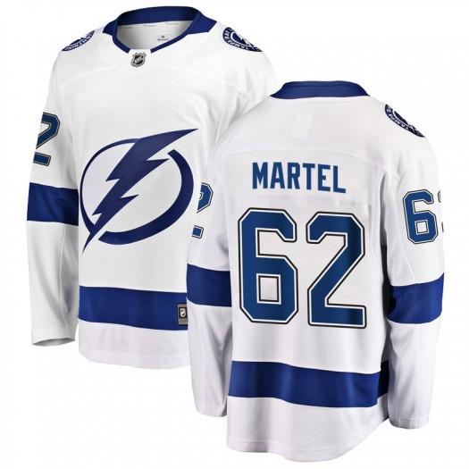 Danick Martel Tampa Bay Lightning Men's Fanatics Branded White Breakaway Away Jersey