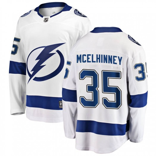 Curtis McElhinney Tampa Bay Lightning Men's Fanatics Branded White Breakaway Away Jersey
