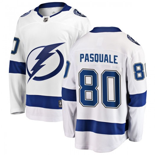 Eddie Pasquale Tampa Bay Lightning Men's Fanatics Branded White Breakaway Away Jersey