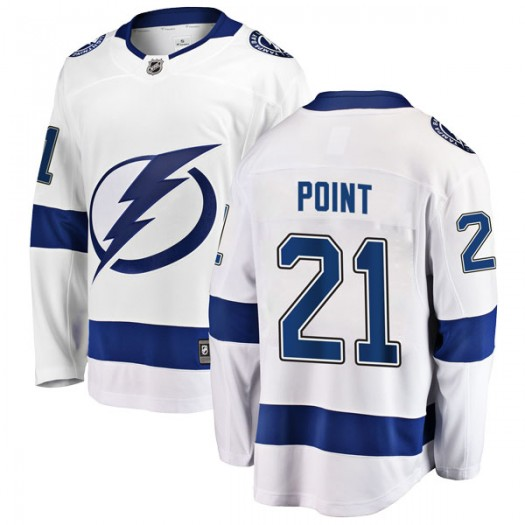 Brayden Point Tampa Bay Lightning Men's Fanatics Branded White Breakaway Away Jersey