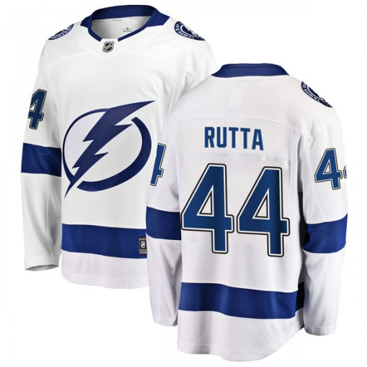 Jan Rutta Tampa Bay Lightning Men's Fanatics Branded White Breakaway Away Jersey