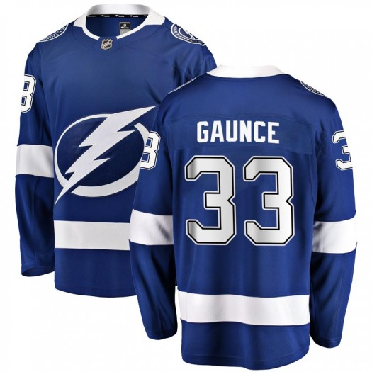 Cameron Gaunce Tampa Bay Lightning Men's Fanatics Branded Blue Breakaway Home Jersey