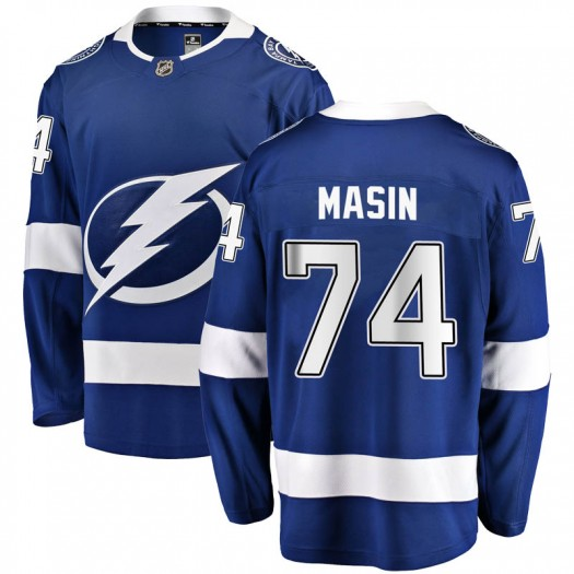 Dominik Masin Tampa Bay Lightning Men's Fanatics Branded Blue Breakaway Home Jersey