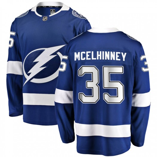 Curtis McElhinney Tampa Bay Lightning Men's Fanatics Branded Blue Breakaway Home Jersey