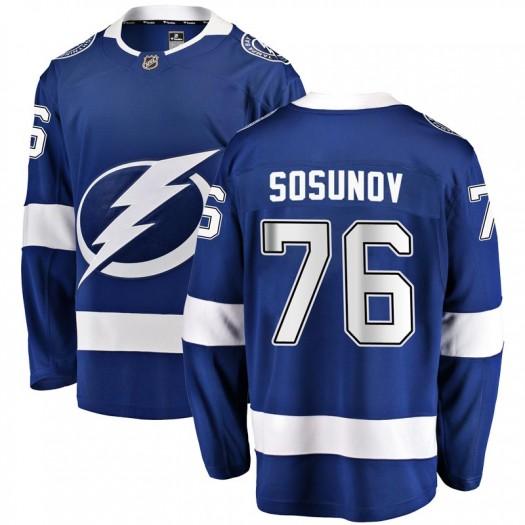 Oleg Sosunov Tampa Bay Lightning Men's Fanatics Branded Blue Breakaway Home Jersey