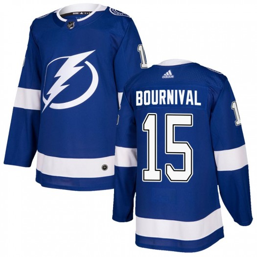 Michael Bournival Tampa Bay Lightning Men's Adidas Authentic Blue Home Jersey