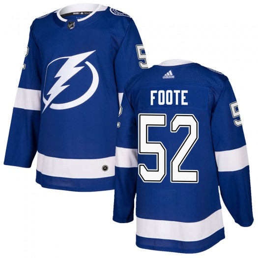 Cal Foote Tampa Bay Lightning Men's Adidas Authentic Blue Home Jersey