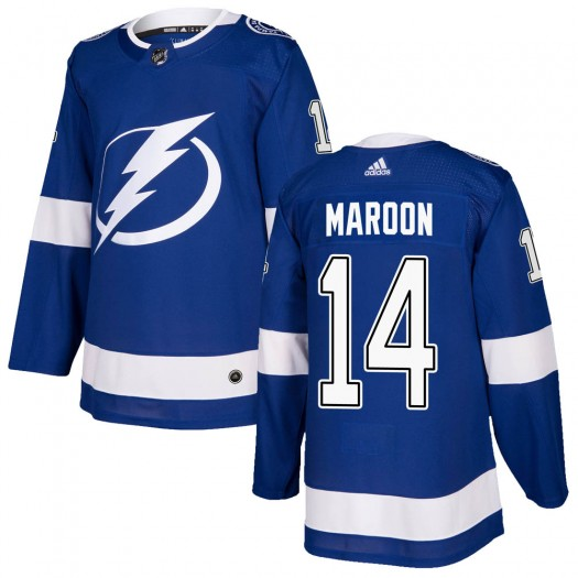 Pat Maroon Tampa Bay Lightning Men's Adidas Authentic Blue Home Jersey