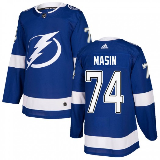 Dominik Masin Tampa Bay Lightning Men's Adidas Authentic Blue Home Jersey