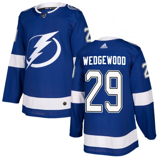 Scott Wedgewood Tampa Bay Lightning Men's Adidas Authentic Blue ized Home Jersey