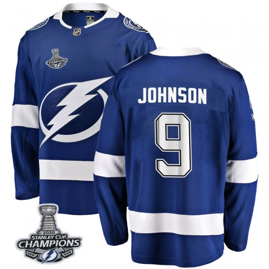 Tyler Johnson Tampa Bay Lightning Youth Fanatics Branded Blue Breakaway Home 2020 Stanley Cup Champions Jersey