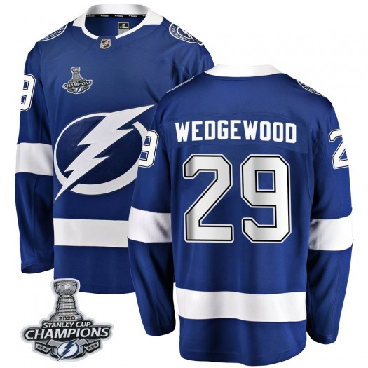 Scott Wedgewood Tampa Bay Lightning Youth Fanatics Branded Blue Breakaway Home 2020 Stanley Cup Champions Jersey