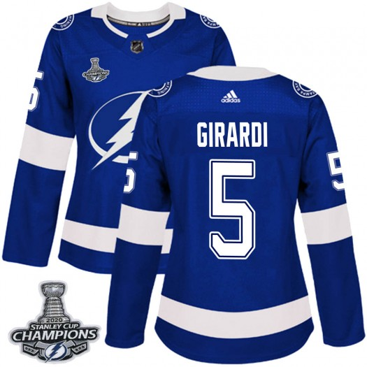 Dan Girardi Tampa Bay Lightning Women's Adidas Authentic Blue Home 2020 Stanley Cup Champions Jersey