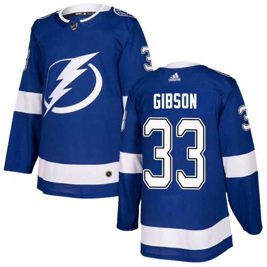 Christopher Gibson Tampa Bay Lightning Youth Adidas Authentic Blue Home Jersey